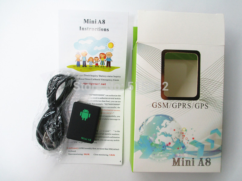 Mini A8 Car Tracker Global Real Time 4 Bands GSM/GPRS Security Auto Tracking Device Support Android Alarm real gains 4 8
