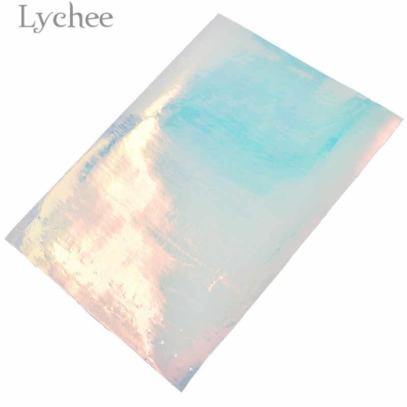 ลิ้นจี่ชีวิต 21x15 ซม.A5 โปร่งใส Faux PU หนังผ้าคุณภาพสูงสังเคราะห์หนัง DIY วัสดุสำหรับกระเป๋าถือเสื้อผ้า