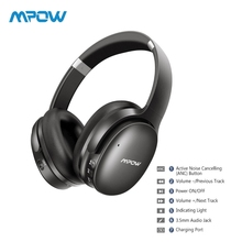 TOP Mpow H10 HiFi Stereo Music Noise Cancelling Headphones Over Ear 25H Playing Time Wireless Bluetooth Headphones With Mic