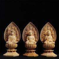 Цветок лотоса экран, тибетский король бодхисаттвы, Yueqing Самшит резьба, Главная Фэншуй проживания, статуи Будды.