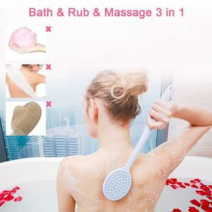 Image 3 - Silikon Bad Pinsel Ultra Weichen BPA Frei Körper Reinigung Pinsel Dusche Zurück Wäscher Tiefe Reinigung Langen Griff Massage pinsel