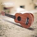 Andoer 21'' Ukelele Ukulele Hawaiian Guitar Mahogany Aquila Rosewood Fretboard Bridge Soprano Stringed Instrument 4 Strings
