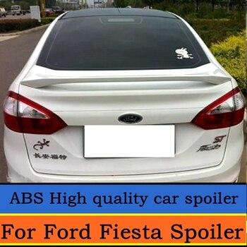 Для Ford Fiesta 2009-2017 спойлер Высокое качество ABS Материал Автомобиля Заднее Крыло праймер цвет задний спойлер для Fiesta седан спойлер