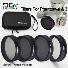 ND4 ND8&CPL ND16 CPL Filter Case bag Skilled Superior Digital camera Accent Mirror Polarizer For DJI phantom four three lens Filter
