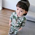 Ropa del bebé del invierno NIÑOS de cocodrilo de impresión niños pantalones hoodieds 2 unids ropa conjuntos kikikids moda navidad de los niños TRAJES DEL DEPORTE