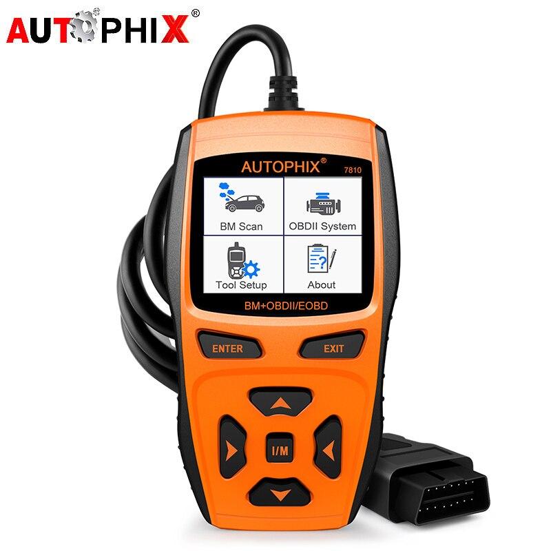 OBD2 Diagnostic Tool Autophix 7810 Professional Automotive Scanner for BMW Support EPB EGS CAS DME DDE EGS MRS ACSM ABS DSC IHKA головка dde гм 80