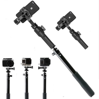 High Quality Aluminum Alloy Extension Bar Telescopic Rod For Zhiyun Z1 Smooth Q 3 Evolution Gopro