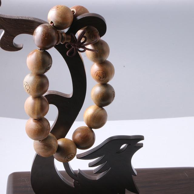 Реальная Приятные Запахи Сандалового Дерева Браслеты Буддийские Молитвы Мала 15 шт. Бисера Буддийские Молитвы Браслет