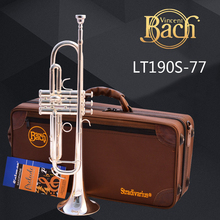 Brand Trumpet Bach LT190S-77 Silver Plated Surface Trumpete Small Brass Professional for Students Musical Instrument Trompeta