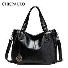 CHISPAULO 2017 Frauen Echtem Leder Handtaschen Marke Dame crossbody Mode frauen Schulter BagsVintage Frauen Messenger Bags X21