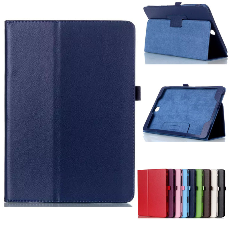 PU Leather <font><b>Case</b></font> <font><b>Cover</b></font> For <font><b>Samsung</b></font> <font><b>Galaxy</b></font> <font><b>Tab</b></font> A 9.7 inch <font><b>SM</b></font> <font><b>T550</b></font> T555 T555C Fashion Ultra Slim <font><b>Case</b></font> For P550 P555 Tablet image