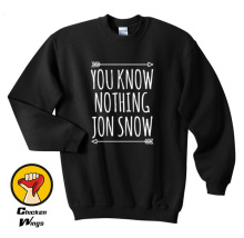 You Know Nothing JON SNOW Shirt Quote Tumblr Top Crewneck Sweatshirt Unisex More Colors XS - 2XL цены