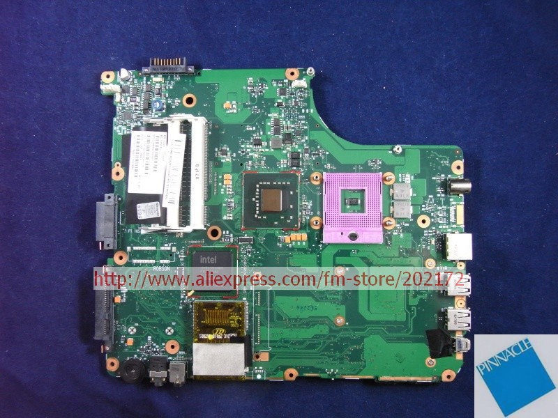 V000125610 MOTHERBOARD FOR TOSHIBA Satellite A300 A305 6050A2169401 TESTED GOOD nokotion sps v000198120 for toshiba satellite a500 a505 motherboard intel gm45 ddr2 6050a2323101 mb a01