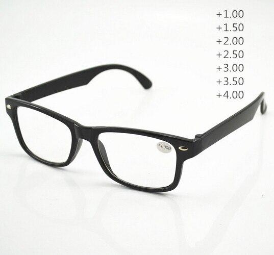 1piece Cheap Reading Glasses Women Men Oculos de Grau Black Glasses 1 00 1 50 2