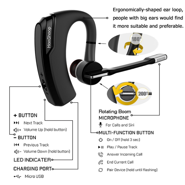 K6 voyager legend Bluetooth Headset