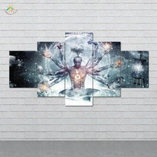 5 Pieces/set Hell man Pictures Wall Art Paintings Picture Print on Canvas for Home Decoration