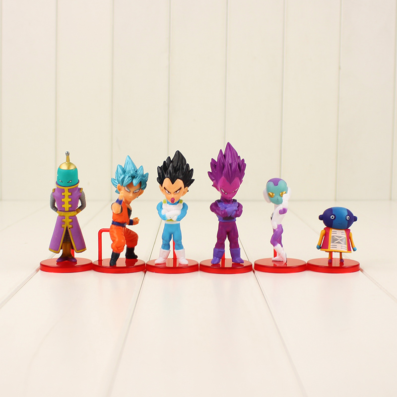 6pcs/<font><b>set</b></font> 6-8cm Dragon Ball Z Goku <font><b>Figure</b></font> Toys Anime <font><b>Dragonball</b></font> Super Saiyan Son Goku Vegeta Freeza <font><b>Figure</b></font> Doll Toys Kids Gifts image