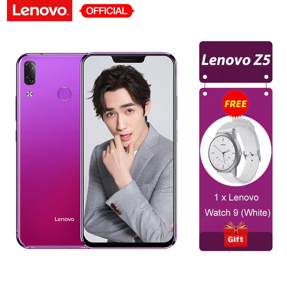 Lenovo Z5 6 ГБ 64 ГБ Snapdragon 636 Octa Core мобильный телефон 19:9 полный Экран 6,2 ''Android 8,1 16MP + 8MP двойной сзади Камера смартфон