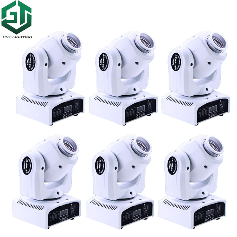 6pcs/lot 30W RGBW LED Moving Head Spot Stage Light Beam DMX512 Disco DJ Party Lighting White Color shell