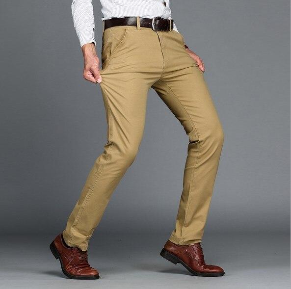 Men's Black Blue Khaki Formal Suit Trousers Mens Slim Fit Pants For Men Suit Pants Office Wear Dress Pants Men Plus Size 44 46
