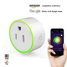 smart plug 10A Home Automation wifi socket 100-240V Remote Control EU/US/AU Wifi Socket Working with Alexa and Google все цены