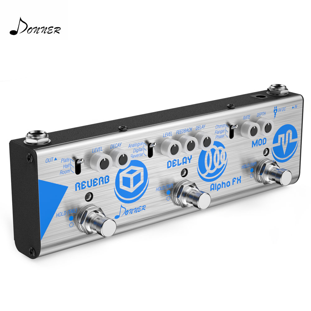 donner multi guitar effects chain alpha fx guitar effect pedal mini modulation delay and reverb. Black Bedroom Furniture Sets. Home Design Ideas