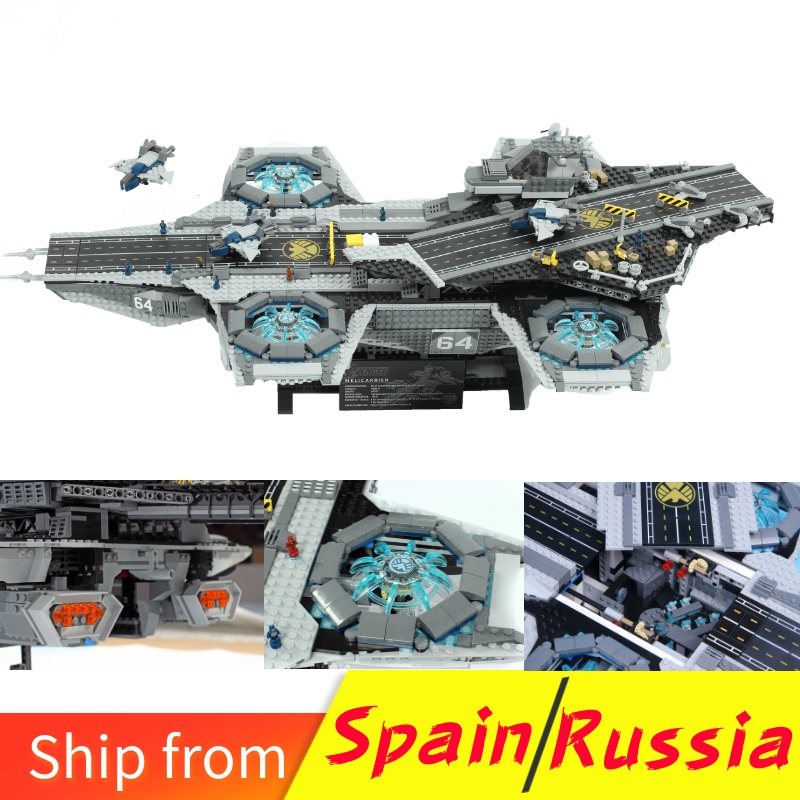 Locking Marvel Movie Blocks Shield Helicarrier Model Lockings Avengers Series Kids Toys Compatible With Lockingly Super