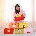 20 * 30 cm película de dibujos animados rana oso gato del gatito de la esponja mono cojín almohada juguetes de peluche peluches peluches muñecas regalos de la rana de fruta