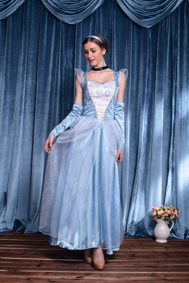 Cinderella Dress Women Cosplay Costume Girls Princess Disguise Sexy ...