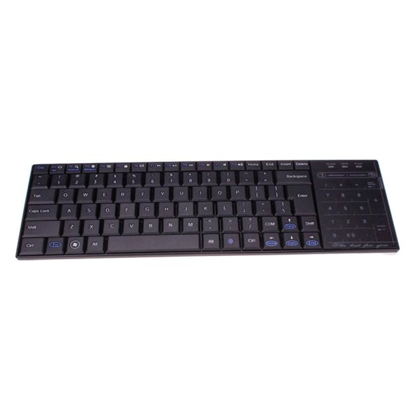 Best Price Details about Bluetooth 3.0 Ultra Slim Mini Keyboard Touch Pad Mouse for iOS Windows Android