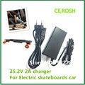 Input100-240V 25.2V2a Série 25.2 V 2A lítio carregador de bateria para 6 bateria de lítio para Electric Skate Longboard