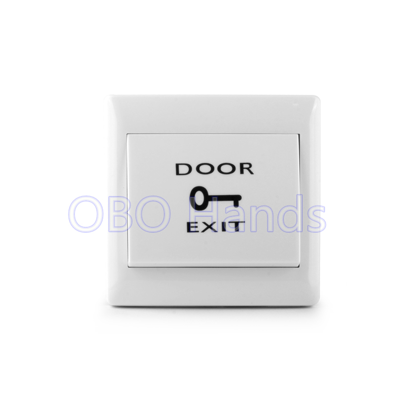 Free shipping high quality door exit button emergent switch push release for access system NO signal Door access control switch free shipping plastic exit button exit switch for door access control system door push exit door release switch with back box