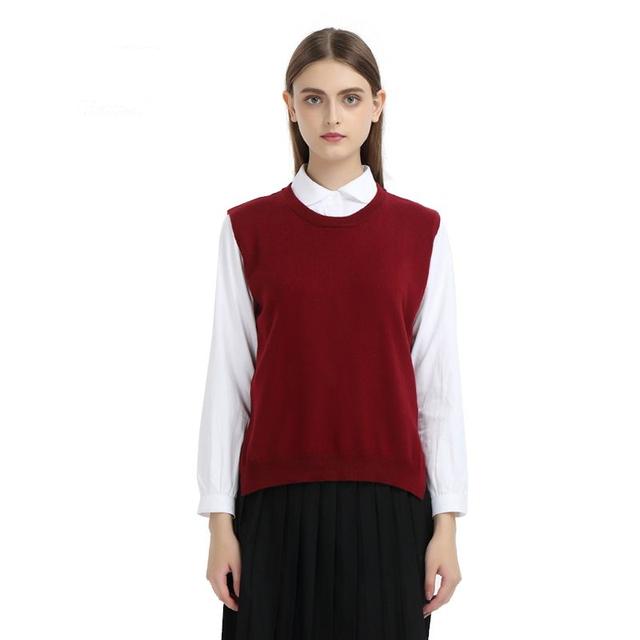 Nueva primavera de Cachemira Chaleco de Punto de Split volver cobertura Sección delgada Suéter de punto flojo Suéter chaleco chaleco femenino