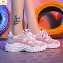 Promocja 2018 kobiety adidasy do biegania oddychająca darmowa jesień buty w stylu casual sportowe biegania Zapatillas Hombre Mujer dla dziewczyn tanie tanio Buty do biegania Dorosłych YD01216 Gumy Styl życia Niskie Średnie (b m) Profesjonalne Super maraton ( 100 km) Siatka (siatka powietrzna)