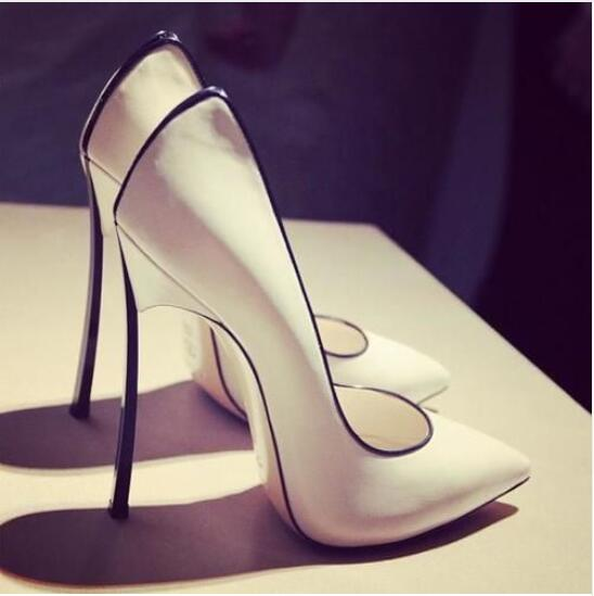 Hot Selling Newest Summer Women Sandals High Heel Fashion Slip On Metal Heel Pumps Pointed Toe Party Dress Shoes Plus Size 10