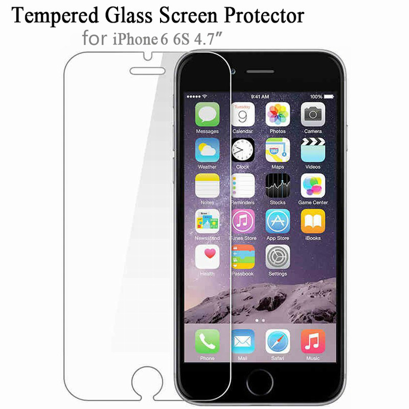 Tempered Glass For IPhone 5 5s 7 Plus 9H Hard 2.5D Screen Protector For IPhone 6 6s 6 Plus SE 4 8 For IPhone 5s 7 8 X Plus Film
