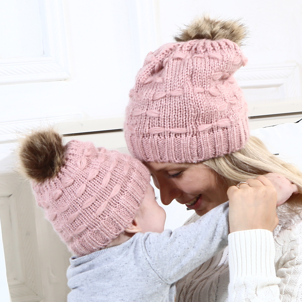 New Knitted Baby Hat Pompom Mom Baby Winter Hat for Boy Girls Kids Cap Baby  Accessories Elastic Soft Toddler Beanie Hats  506a5fb5bb3