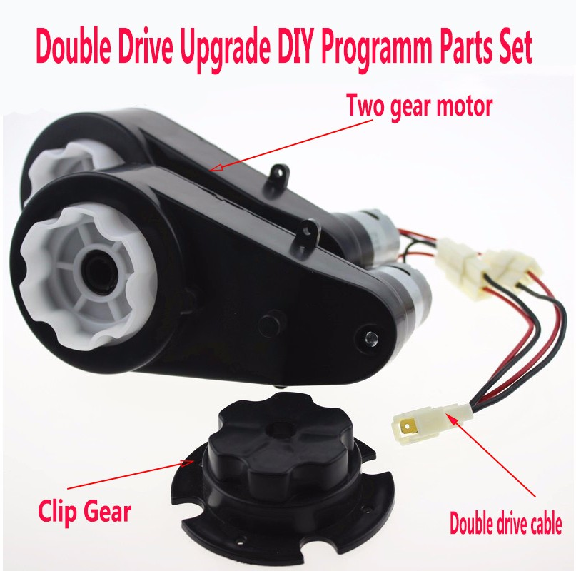 2pcs 6V 18000RPM RS550 Motor Gearbox Double Drive Upgrade Program Kids Ride One Car