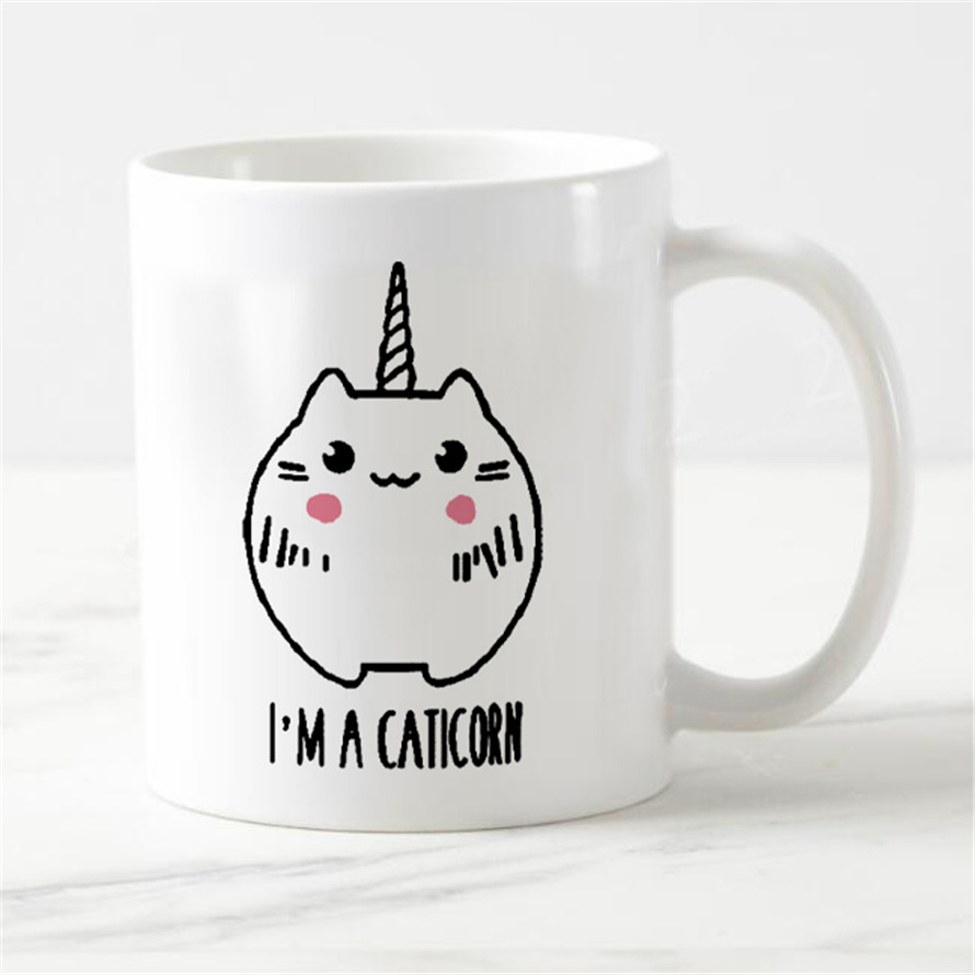 Cute Kitten Cup Premium Coffee Creative Office Ceramic Friend TV Christmas Birthday Gift Cool 11oz