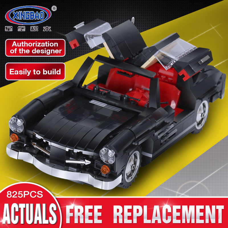 XingBao 03010 825Pcs Creative MOC Technic Series The Photpong Car Set Children Education Building Blocks Bricks