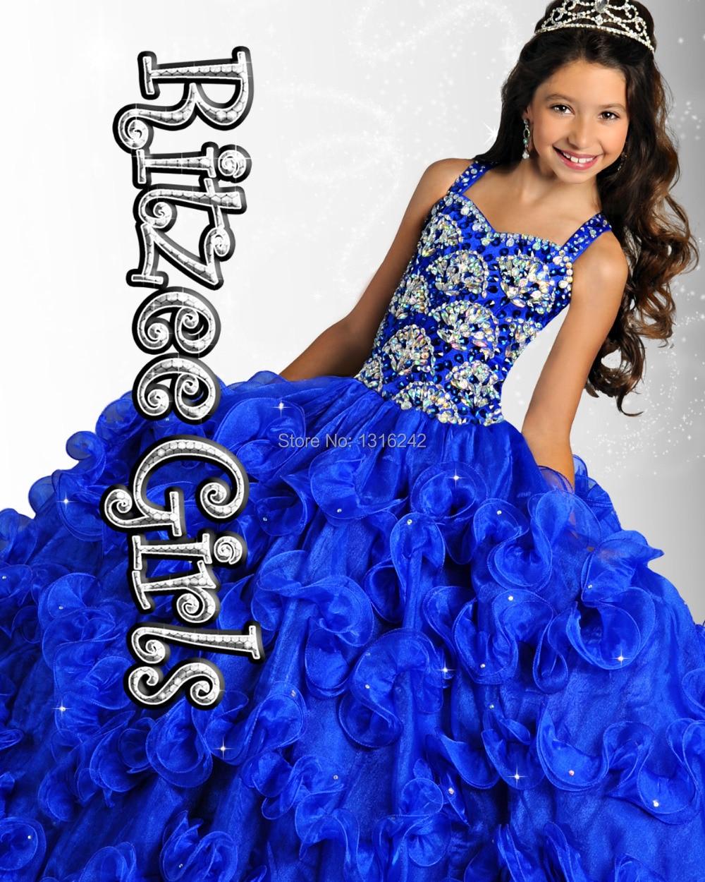 2015 Ritzee Girls 6905 Little Girls Pageant Dresses Ball Gown ...