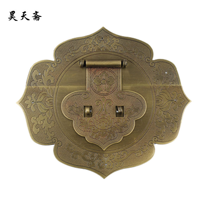 [Haotian vegetarian Chinese antique Ming and Qing Zhang Muxiang] bronze copper fittings suitable 80-100CM box[Haotian vegetarian Chinese antique Ming and Qing Zhang Muxiang] bronze copper fittings suitable 80-100CM box
