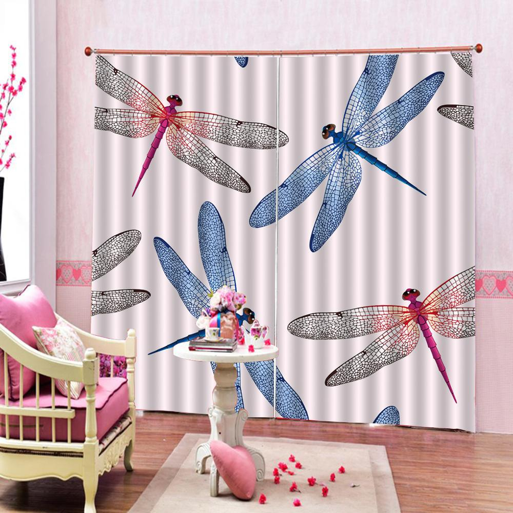 Window Curtain Living Room Dragonfly