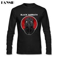 Rock T Shirts Men Male Black Sabbath Heavy Metal Vintage Rock And Roll O Neck Long