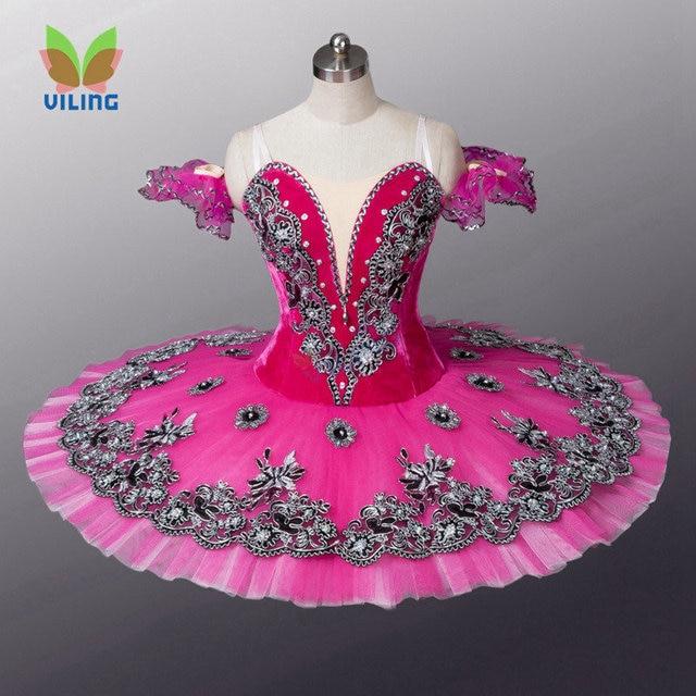 e62a6ccd8a Vestido de ballet Rosa Nutcracker ballet profissional tutu de ballet  clássico tutu traje do bailado da
