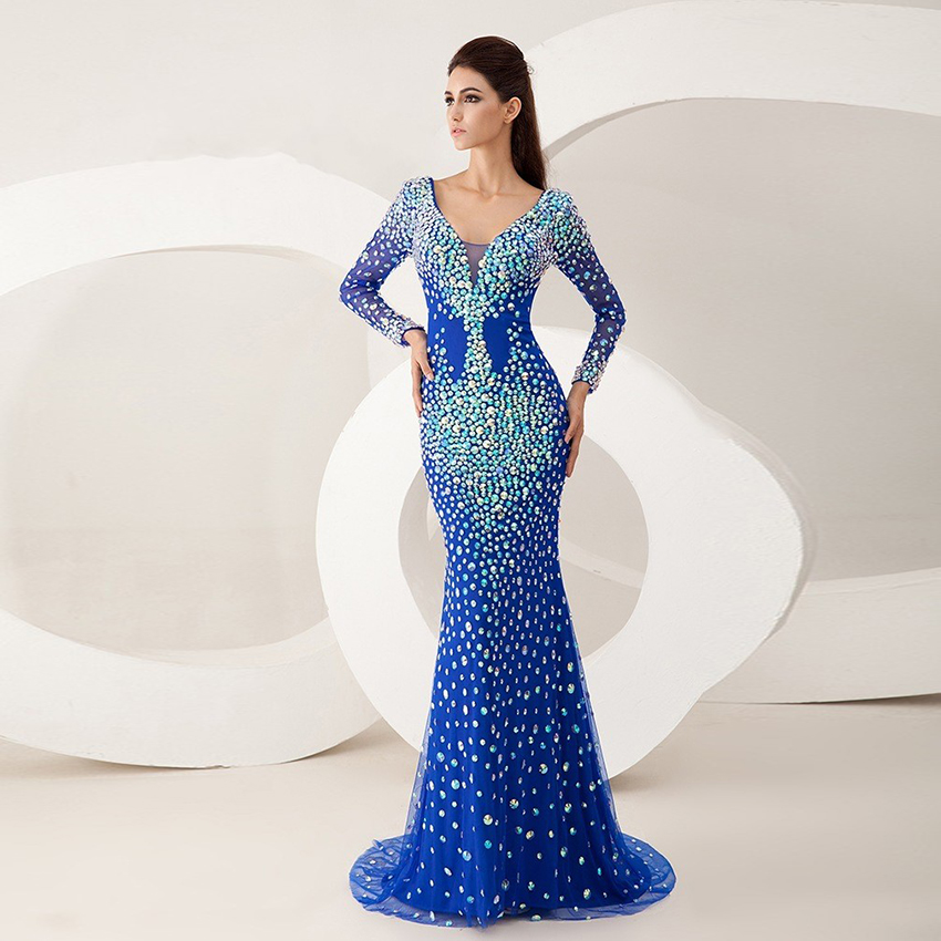 Vestidos azul brillante