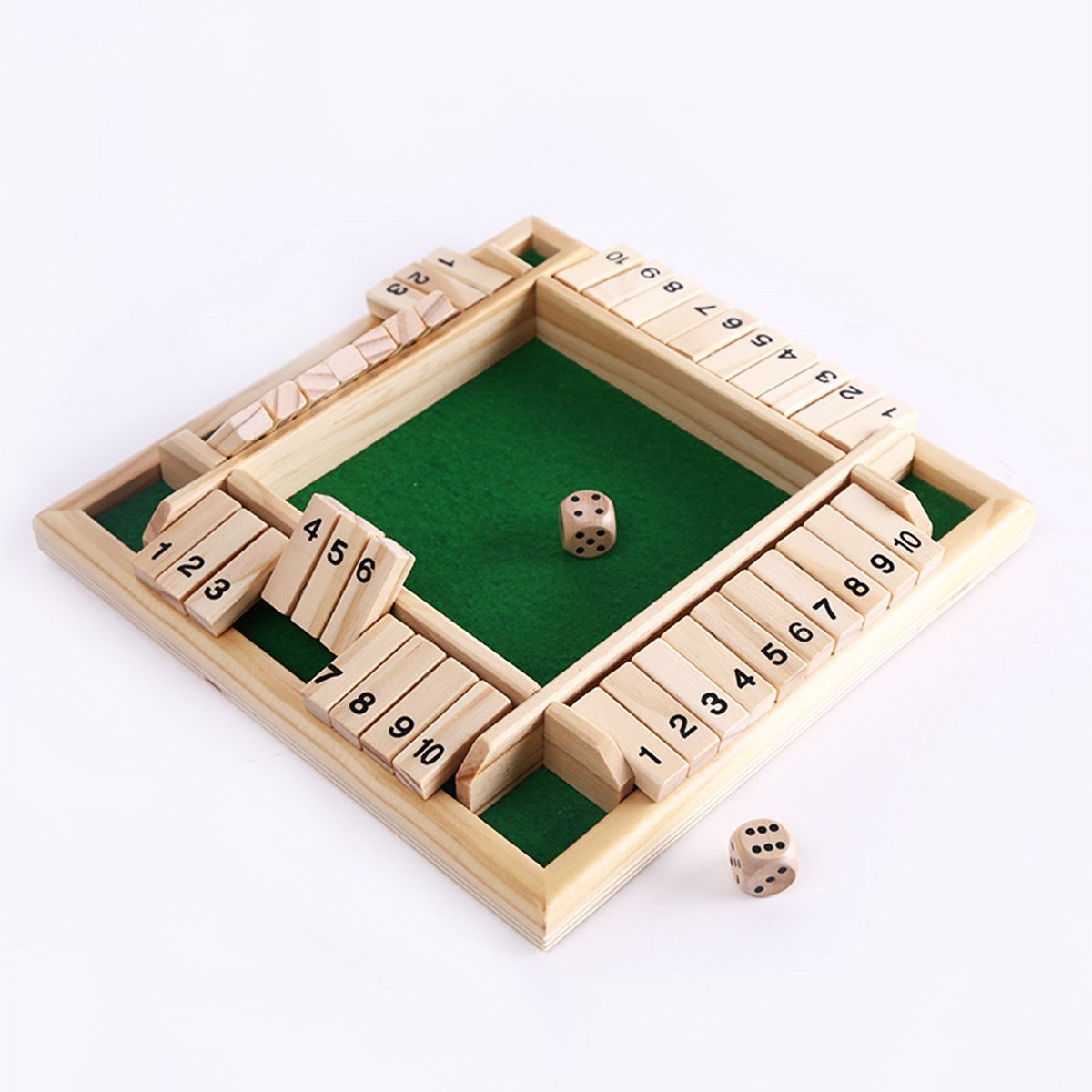 New Box Games : New shut the box game wooden board number drinking dice