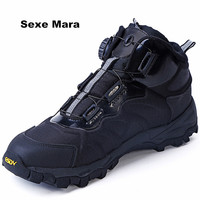 Men Shoes 2017 New Leather Snow Boots ESDY Outdoor Quick Reaction Boots BOA Lacing System Boots