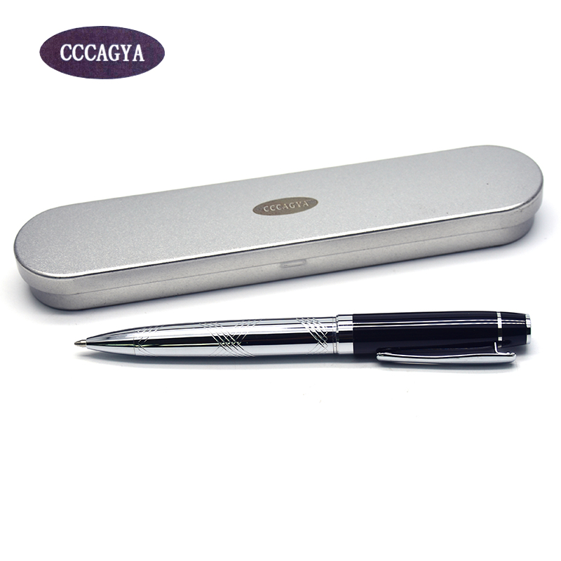 CCCAGYA A002 carved metal ballpoint pen. Pencils Studying office school students gift pen & hotel business Writing supplies