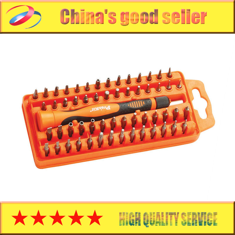 Free Shipping! Brand Pros'kit SD-9808N 58-Piece Precision Electronics Screwdriver Set Multifunctional Screw Driver Tool precision screw drivers toolkit for electronics diy blue orange 14 piece set